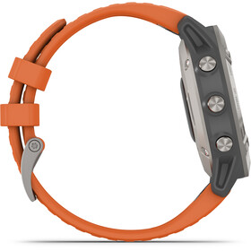 Garmin Fenix 6 Sappire Titanium Smartwatch grau/orange